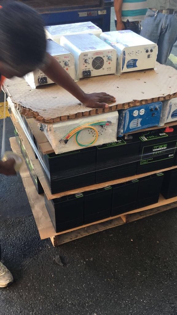 Providing batteries to Puerto Rico